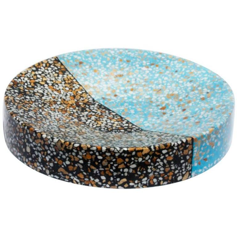 Fruit Bowl Multi-color Terrazzo Stone Contemporary Style (Long)