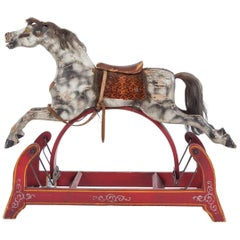 Antique American Rocking Horse, Mid-19th Century