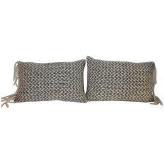 Hand Knit Soft Wool Pillows with Fringe