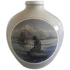 Royal Copenhagen Art Noueau Vase with Motif of the Little Mermaid #2790/2535