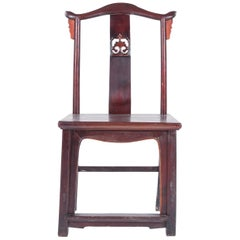 Antique Ming-Style Hardwood Chinese Chair, Late 19th Century