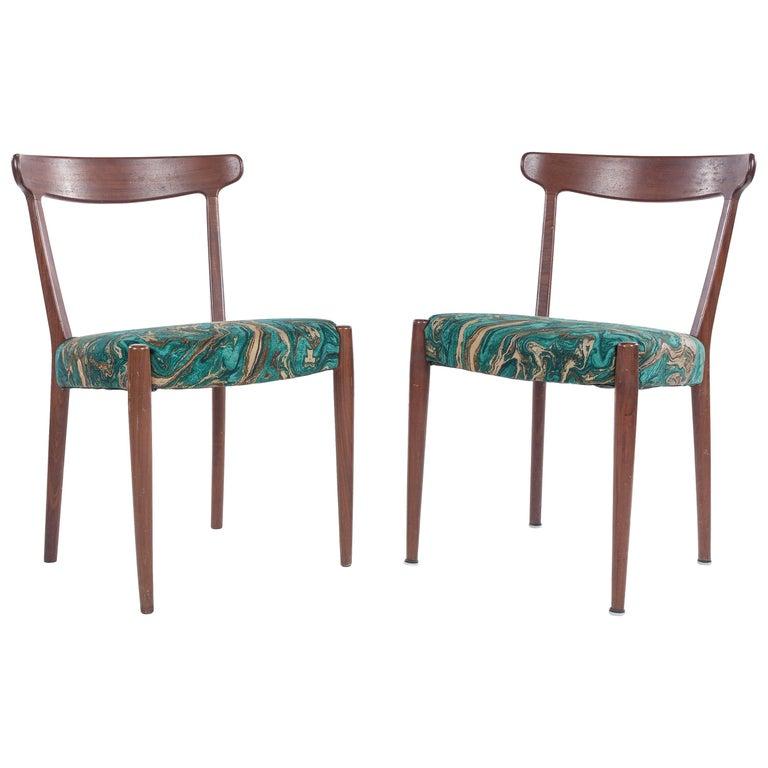 Pair of Mid-Century Modern Skaraborgs Möbelindustri AB Tibro Chairs, Sweden