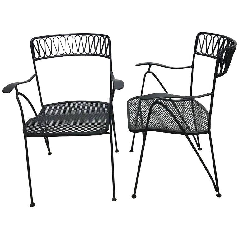 Pair of Salterini Ribbon Series Armchairs, by Maurizio Tempestini, Restored