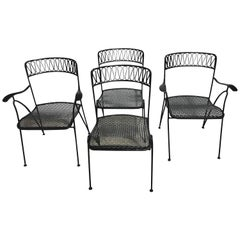 Four Salterini Ribbon Series Dining Chairs by Maurizio Tempestini, Restored