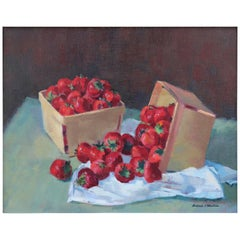 Still Life of Strawberries by Antonio Pietro Martino