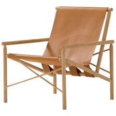 Amura 'Ease' Chair in Oak and Leather by Gareth Neal