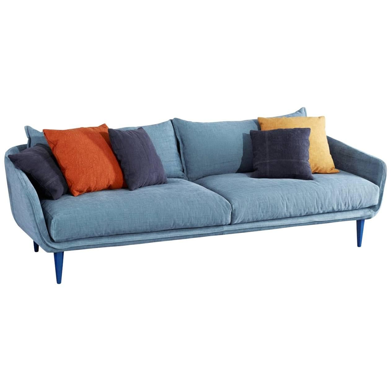 """""""Sister Ray"""" Three-Seat Sofa with Goose Down Cushions by Moroso for Diesel"""