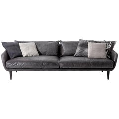 """Sister Ray"" Leather Covered Three-Seat Sofa by Moroso for Diesel"