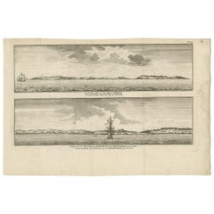 Antique Print of the Island of Tinian 'Mariana Islands' by G. Anson '1765'