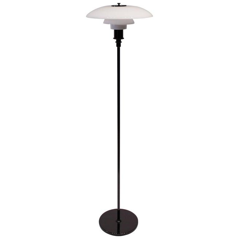 Ph 3½-2½ Floor Lamp with Frame of Black Metallic Steel by Pou Henningsen