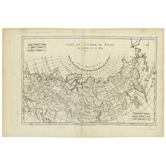 Antique Map of the Russian Empire by R. Bonne, 1780