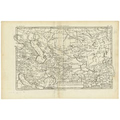 Antique Map of the Persian Gulf and Caspian Sea Region by R. Bonne, 1780