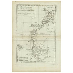 Antique Map of West Africa by R. Bonne, 1780