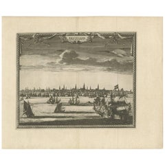 """Antique Print of the City of Amsterdam """"the Netherlands"""" by P. van der Aa"""
