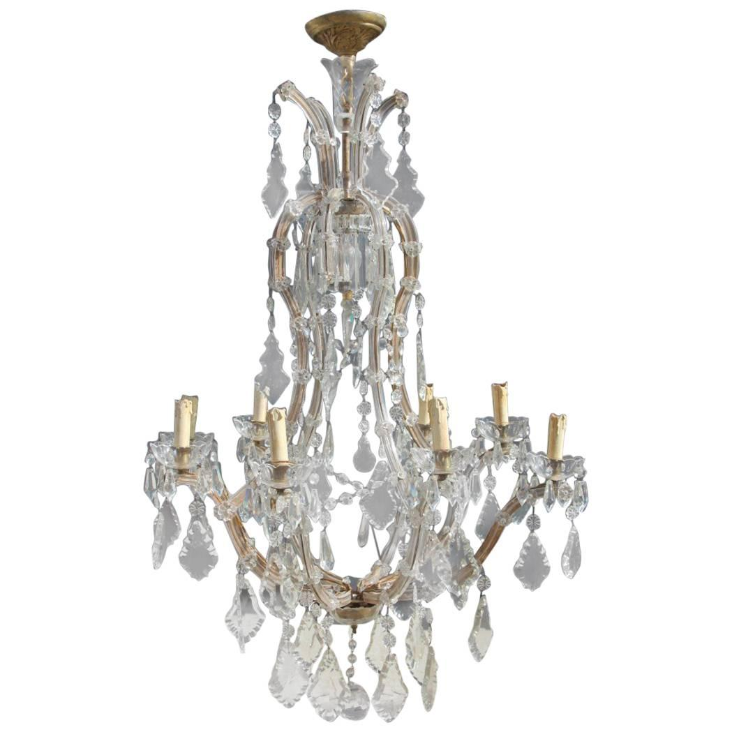 Great Chandelier Maria Theresa Design, 1950s