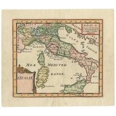 Antique Map of Italy by F. de Aefferden, 1725