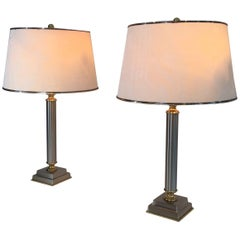 Pair of French Mid-Century Modern Table Lamps by Guy Lefevre for Maison Jansen