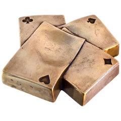 Mid Century Bronze Tray Italy