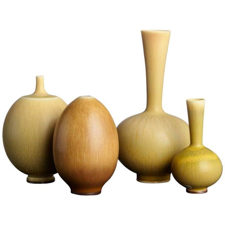 Berndt Friberg Stoneware Miniature Vases, Sweden, 1958-1968