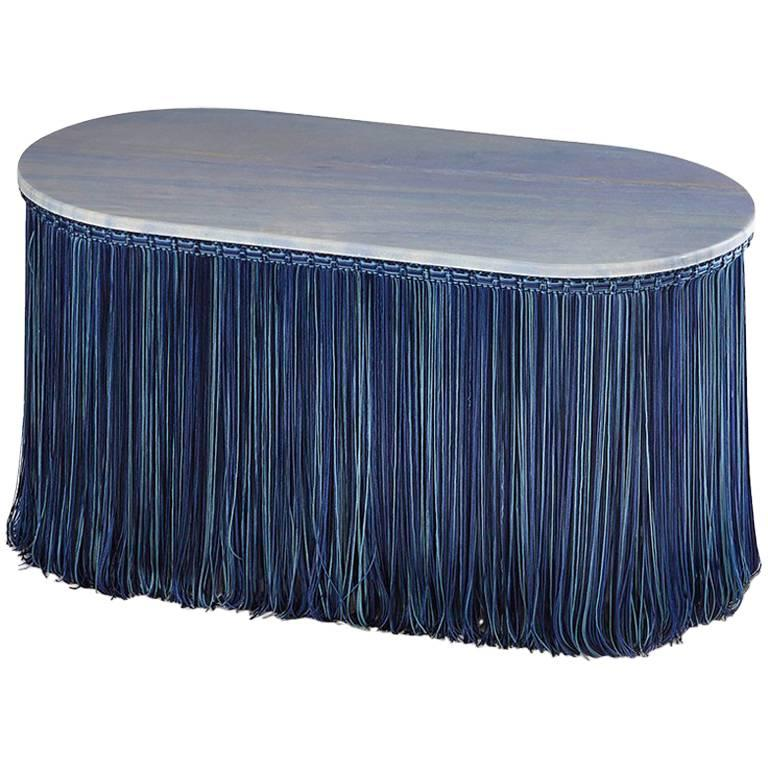 Tripolino XS Low Table in Marble Fringes by Cristina Celestino X Editions Milano