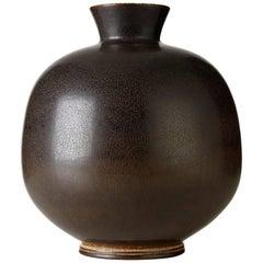 Berndt Friberg Stoneware Vase, Sweden, 1976