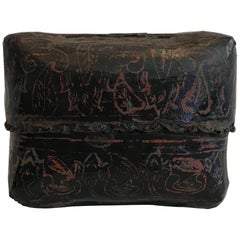19th Century Hand-Painted Burmese Lacquer Lidded Box