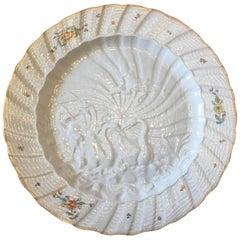 18th Century Meissen Porcelain Swan Service Plate