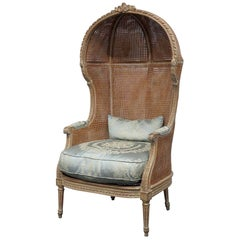 Jansen Style Distressed Porter Chair