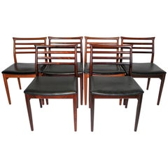 Erling Torvits Rosewood Dining Chairs by Sorø Stolefabrik, Set of Six