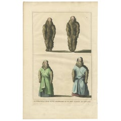 Antique Print of Mandragores 'Mandrakes, Naked and Clothed' by A. Calmet