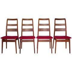 "Midcentury Svante Skogh ""Rosetto"" Teak Dining Chairs, Set of Four"