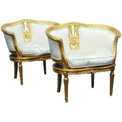 Pair of Gilt Marquis