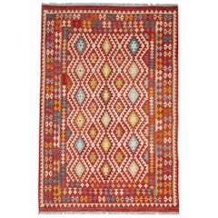 Handmade Red Rug New Kilim Rugs, Traditional Rugs, Carpet from Afghanistan