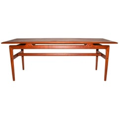 Peter Hvidt & Orla Mølgaard Nielsen Solid Teak Coffee Table