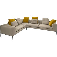 Neutral Beige L Shaped Sectional by B &B Italia