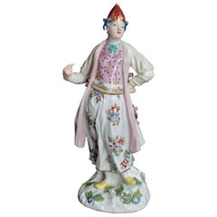 Bulgarian Woman in Porcelain of Meissen, circa 1745-1750