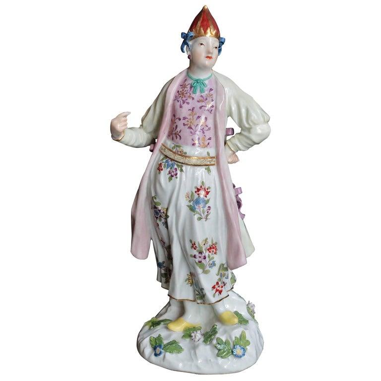 Bulgarian Woman in Porcelain of Meissen, circa 1745-1750