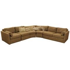 Mid-Century Modern Curved Five-Piece Sofa Sectional Drexel Baughman Era