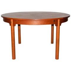 """Børge Mogensen Oak """"Öresund"""" Round Dining Table"""
