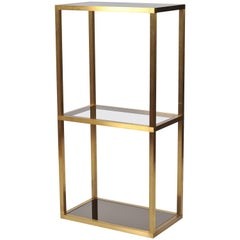 French, 1970s Brass Etagere