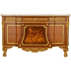 19th Century Ormolu and Marquetry Commode