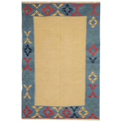 Handmade Yellow Rug Oriental New Kilim Rugs, Traditional Rugs, Carpet from India