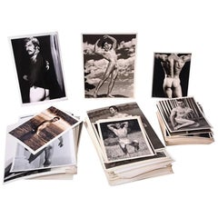 Large Set of Vintage Male Physique Erotica Black and White Photographs