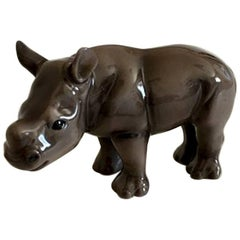 Bing & Grøndahl 2006 Mother's Day Figurine of Black Rhino Calf