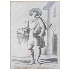 "17th Century Francesco Curti ""Vendor of Cheese"" Etching"