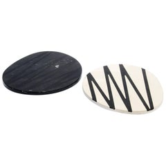Duo Cutting Boards and Serving Plates Stone Resin Contemporary Style