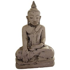 Buddha Burma 17th Century Stone Statue