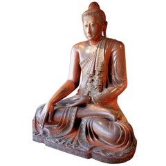Large Mandalay Buddha Burma, circa 1853-1948