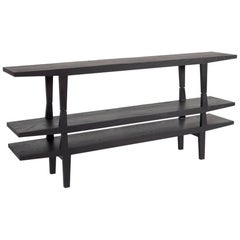 100xbtr Contemporary Engel Modular Shelving Unit in Black Dyed Solid Ash