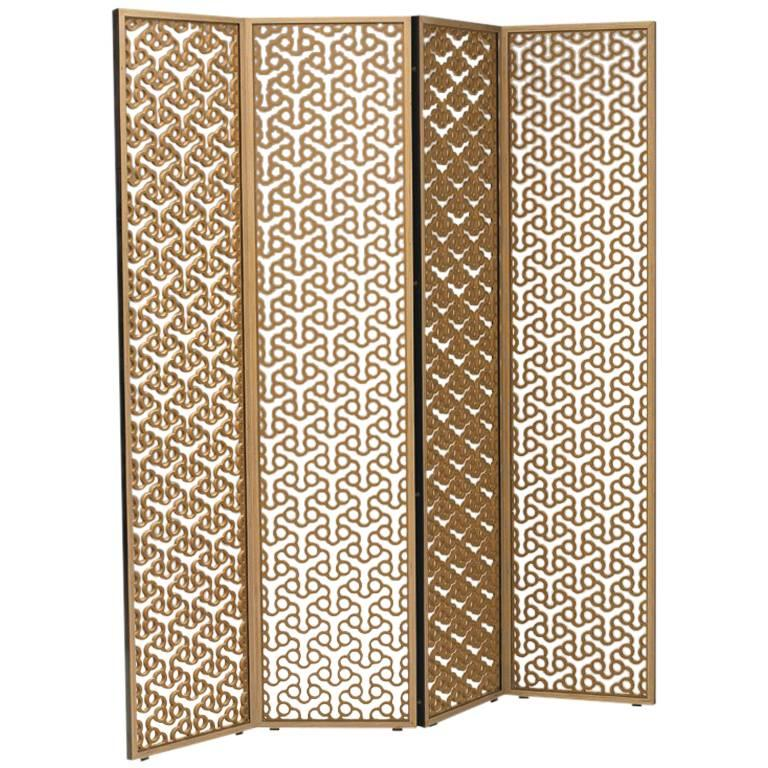 100xbtr Contemporary Quentin Folding Screen in Extira with Baltic ...